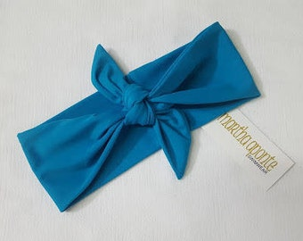 Turquoise- Adjustable Top Knot Headbands