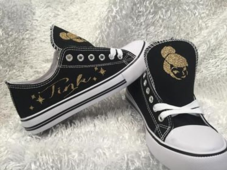 337511bd6d3ac Tinkerbell, Tinkerbell Shoes, Disney Tink Sneakers, Disney Shoes, Women  Disney Sneakers, Tinkerbell Sneakers