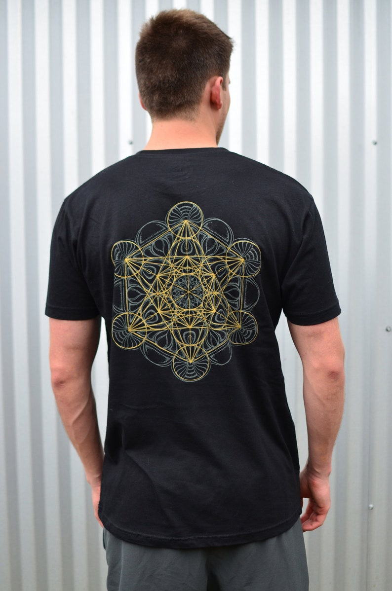 a815fdcc Glow in the Dark Metatron's Cube T-Shirt Sacred Geometry | Etsy
