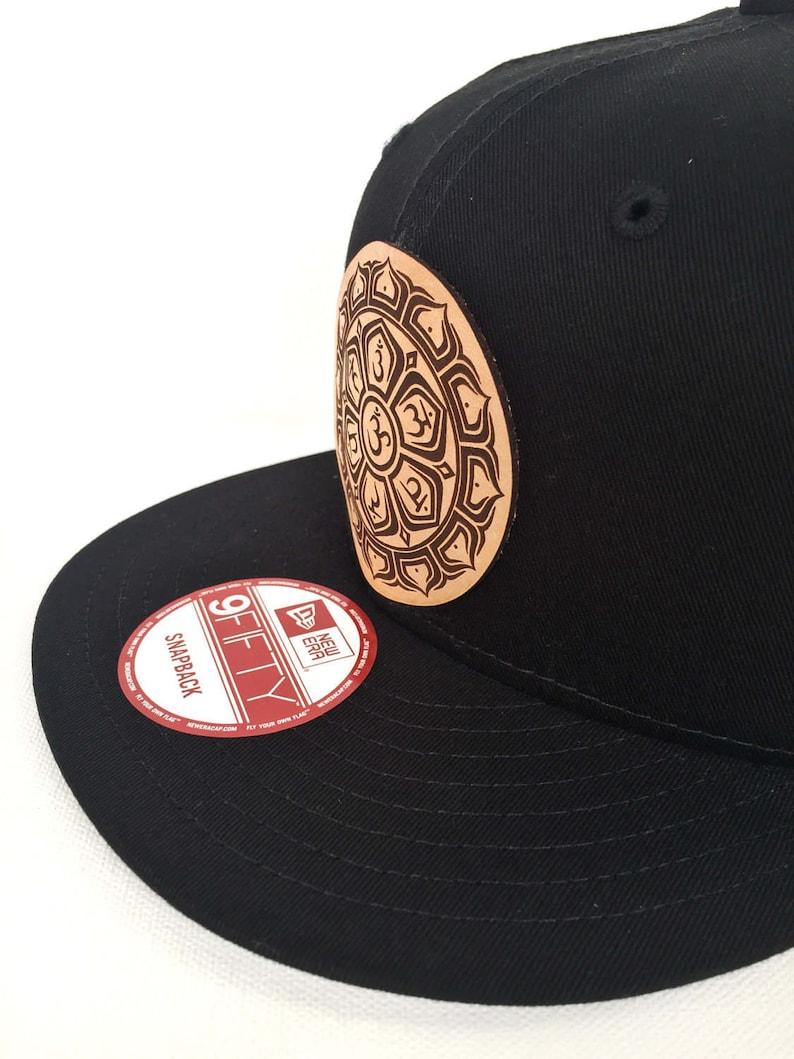 fe52e54ae5e Chakra Lotus Snapback Hat Black New Era Snapback Hat