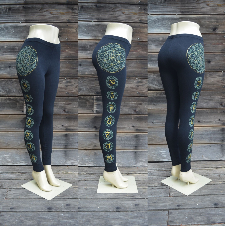 Seed Of Life Chakra Leggings Sacred Geometry Clothing Etsy