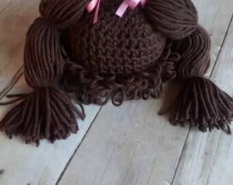 Crochet Cabbage Patch Wig Halloween Costume