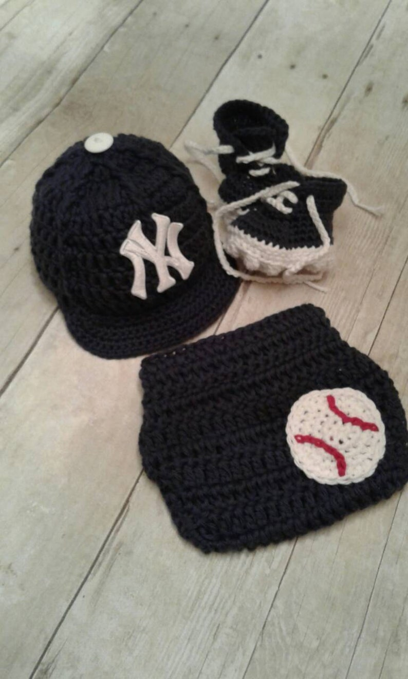 30ed9047b8e New York Yankees inspired baseball hat diaper cover and cleats