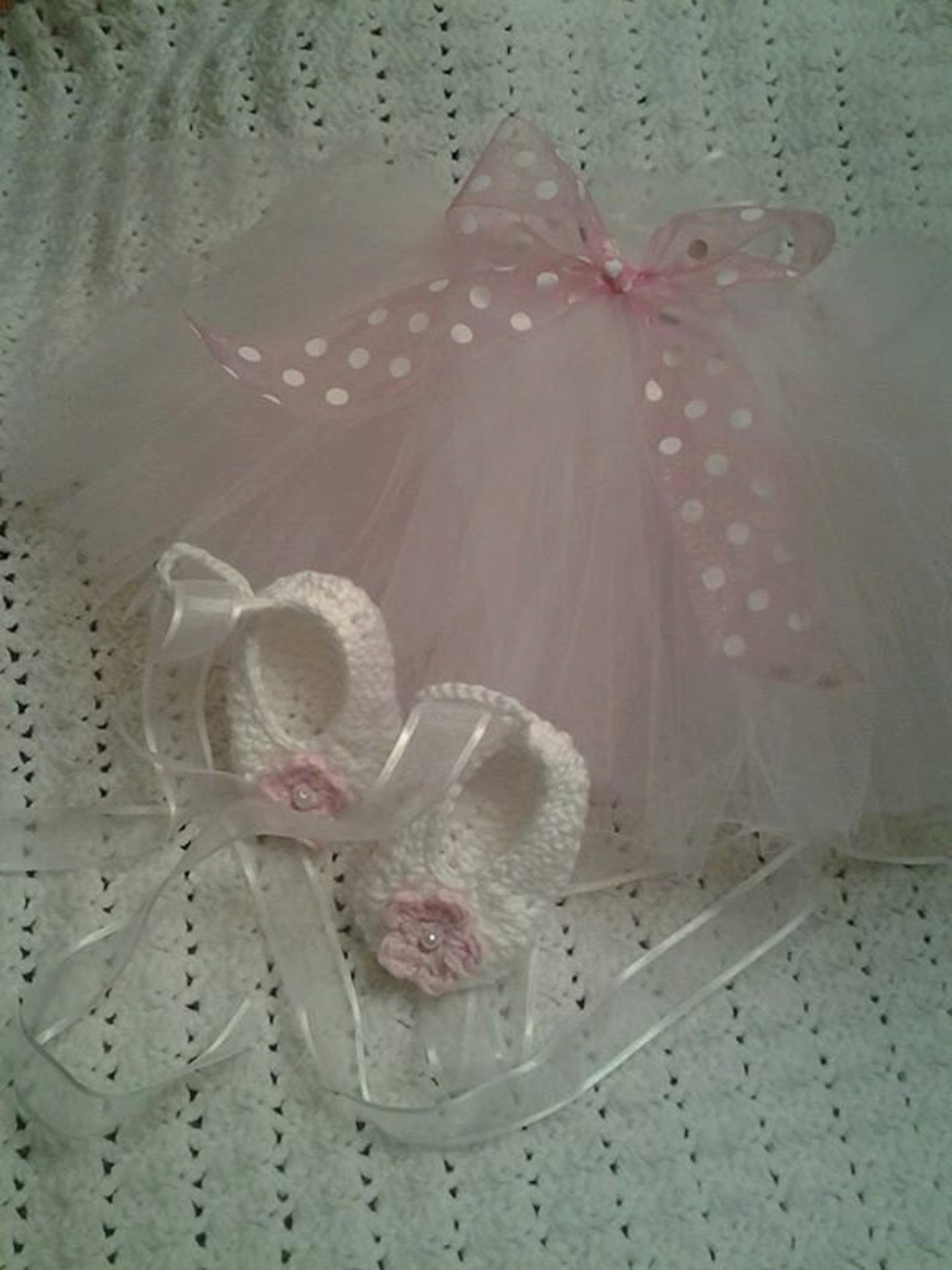 baby ballerina tutu with ballet slippers crochet