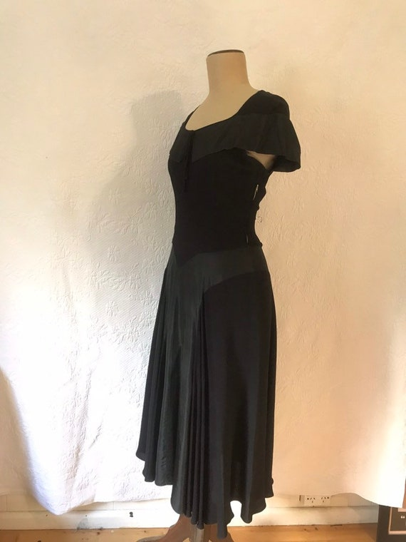 1930s crepe & taffeta party dress - image 7