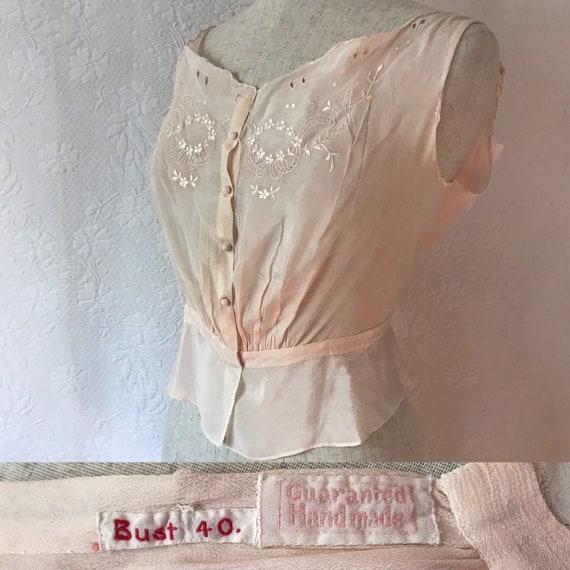 Victorian silk entirely handstitched & hand embroi