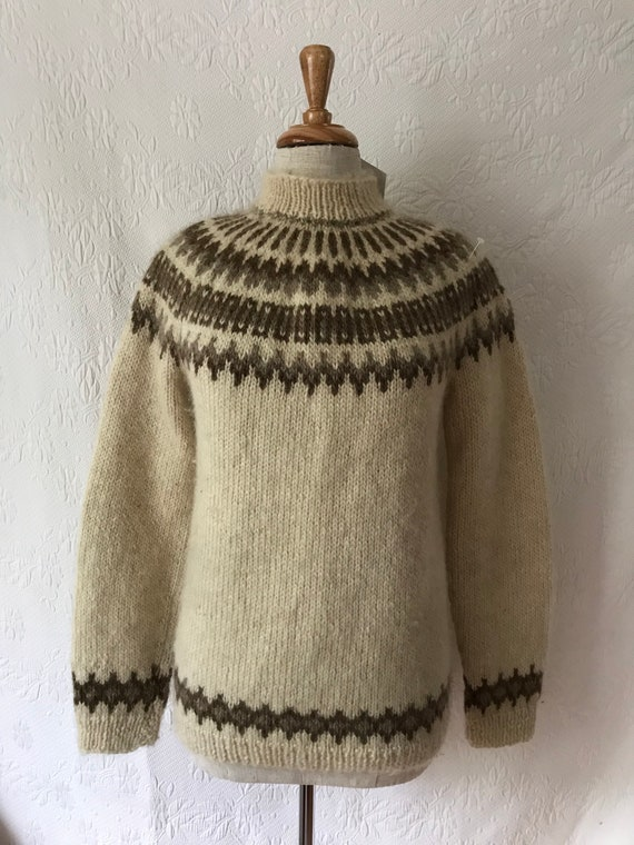 1950s Nordic hand knit wool jumper sweater pullove