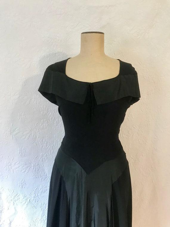 1930s crepe & taffeta party dress - image 8