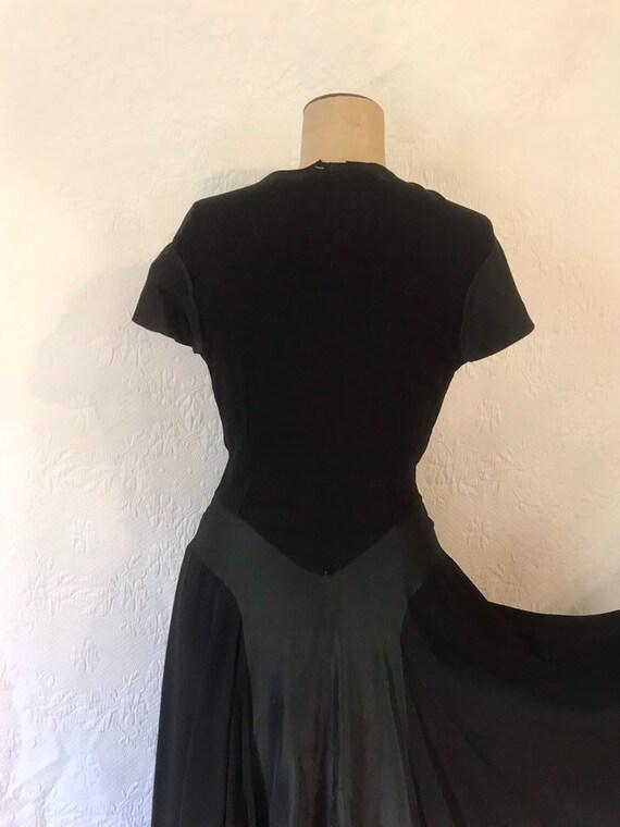 1930s crepe & taffeta party dress - image 6