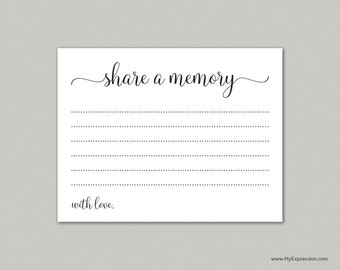 share a memory card instant download editable pdf template etsy