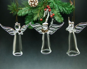 Hand blown Glass Angel Ornament