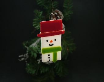 Fused Snowman Ornament