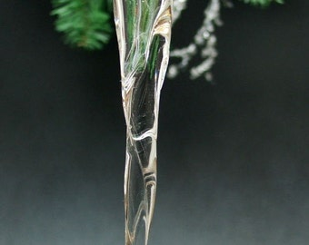 Blown Glass Idaho Icicle Ornament