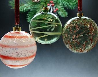Hand Blown Glass Ball Ornament
