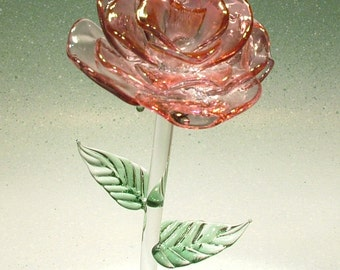 Hand crafted Glass Rose made in the USA