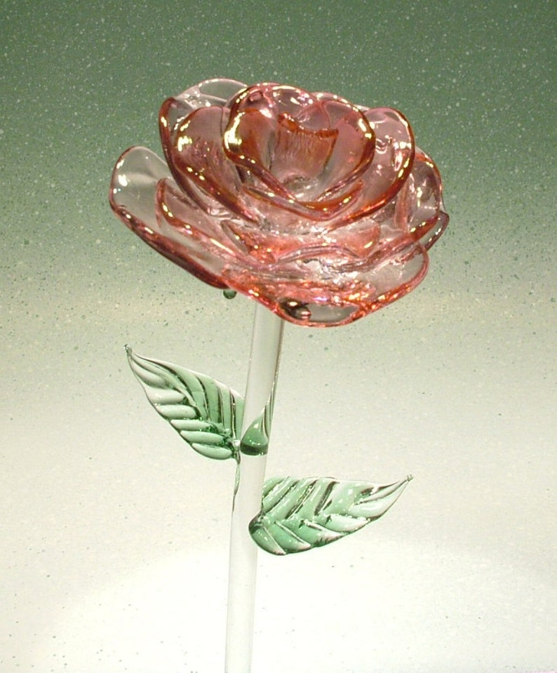 Hand crafted Glass Rose made in the USA image 0