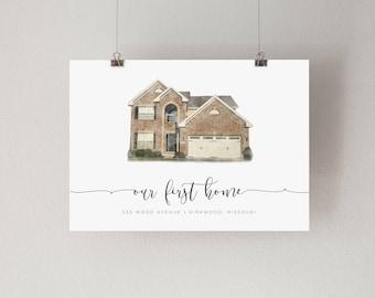 JPG Watercolor House Print
