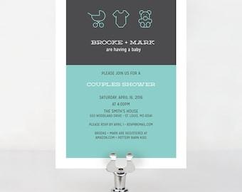Hipster Baby Shower Invitation
