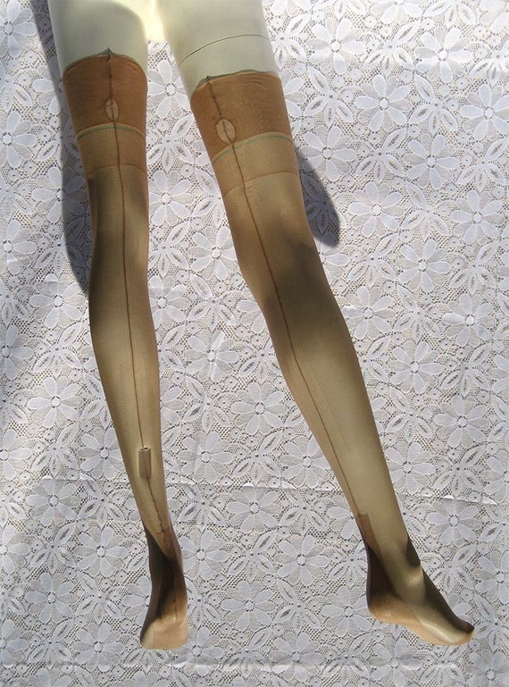 Vintage Style real RHT Stockings Nylons Hosiery 15 Denier 100/% Nylon Non-Stretch