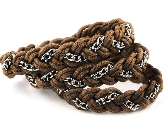 Plaited cotton cord wrap bracelet by GunaDesign