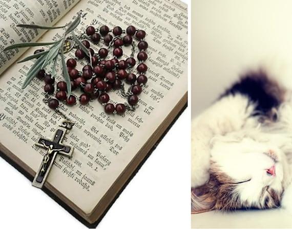 Vintage five decade Catholic Rosary