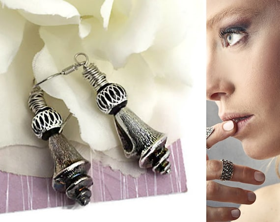 Vintage cutlery earrings by GunaDesign