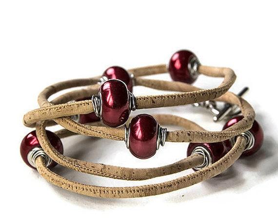 Wrap cork bracelet by GunaDesign