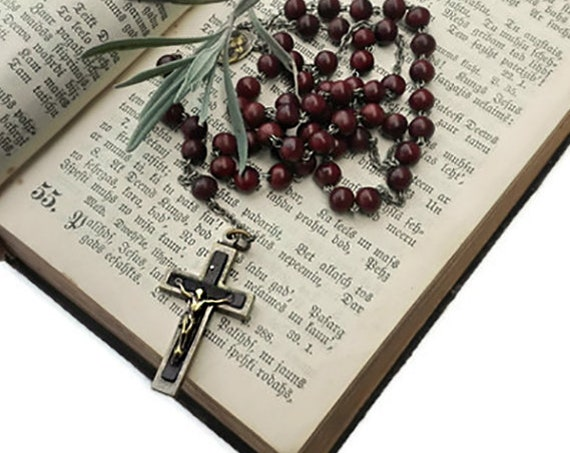 Vintage five decade Catholic Rosary