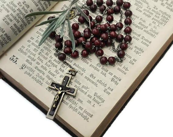 Vintage rosary, five decade rosary, catholic rosary, praying beads, spiritual jewelry