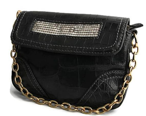 Clio Goldbrenner, Belgium, black leather purse, top handbag for woman
