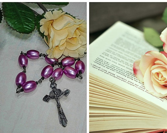 One decade rosary with cross by GunaDesign