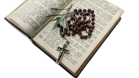 Vintage rosary, five decade rosary, catholic rosary, praying beads, spiritual jewelry