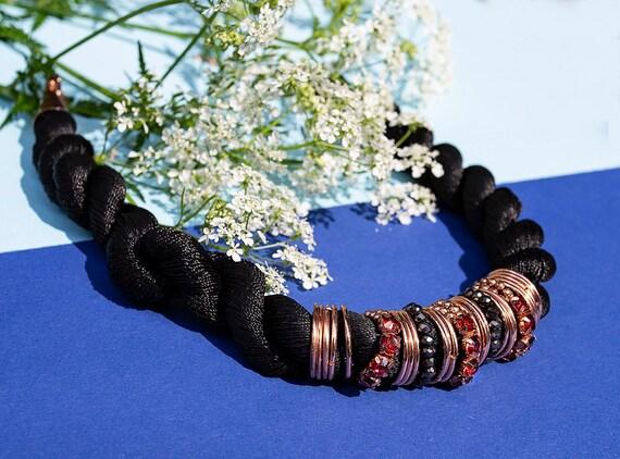 Fiber cord necklace GunaDesign