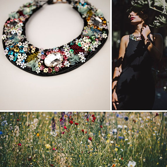 Embroidery bead necklace by GunaDesign