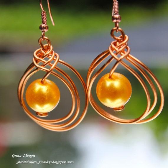 Wire Dangle Earrings in Celtic Knot Design tutorial