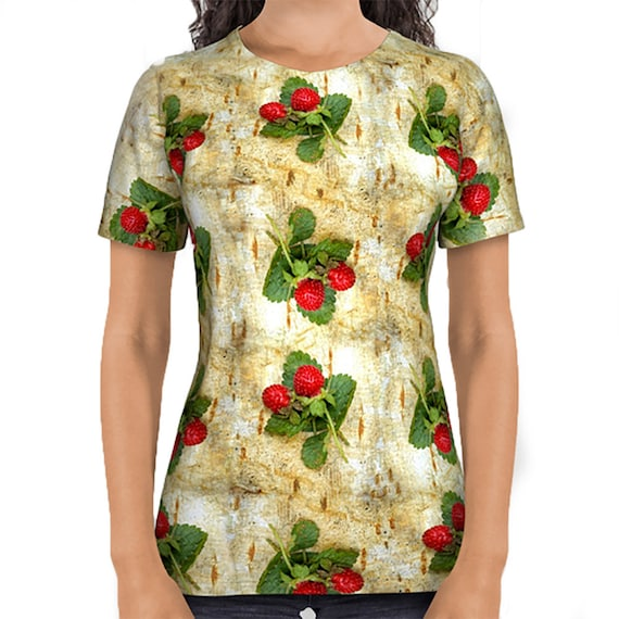 All over print shirts- Indian strawberries