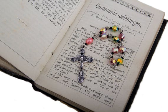 Rosary from Pink Swarovski Crystals