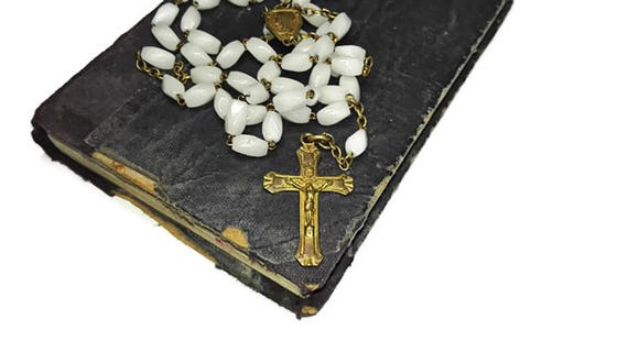 Vintage French Lourdes 5 Decade Rosary