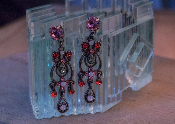 Vintage bohemian chandelier push back earrings