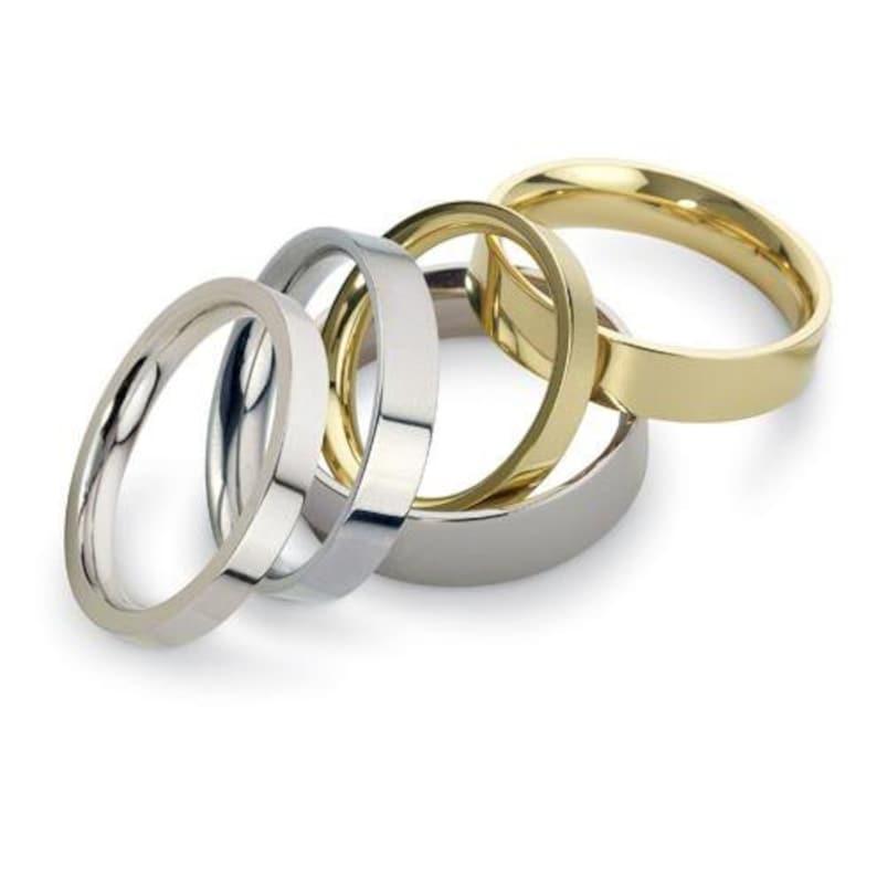 3mm 9ct Yellow Gold Band Men/'s Handmade Simple Wedding Ring   PLAIN Comfort Fit Medium Weight Flat Court Shape 3.6g