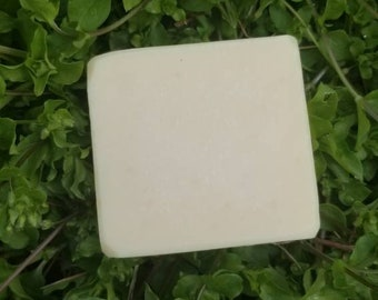 Vegan Handmade Chickweed soap made with Chickweed grown on our small farm and sheep rescue - Sustainable, cruelty free, slow beauty