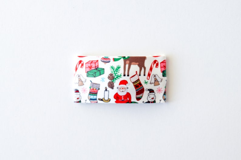 Holiday Spirit Leather Snap Clip
