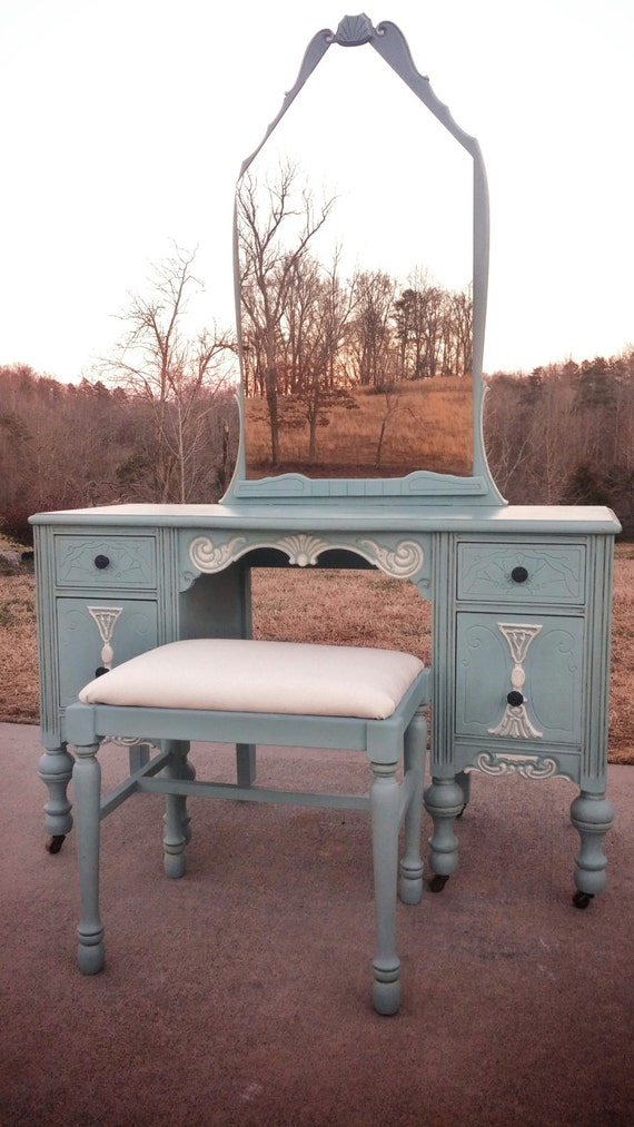 image 0 - SOLD EXAMPLE......Annie Sloan Chalk Paint Antique Vanity With Etsy