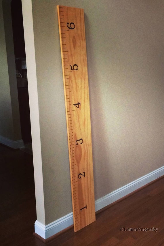 Growth Chart Ruler Wood Burnt Etsy