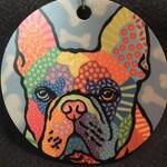 NEW FBRN 2018 Homer French Bulldog 2-sided original pop art ornament