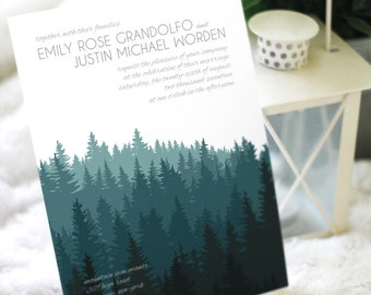 Wooded Wedding Invitation Suite