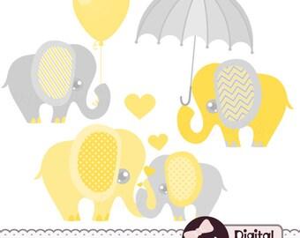 Blue Elephant Baby Shower Invitation Clipart Baby Boy Clip ...