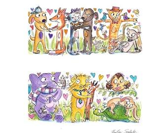 Equality Animal Card