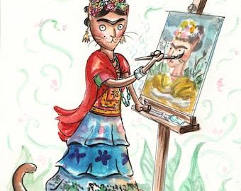Frida Catlo Art Print