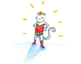 Wonder Cat Card